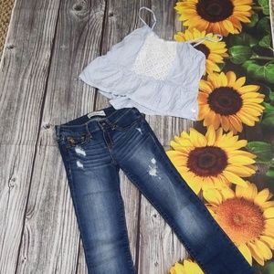 Abercrombie kids Jeans  and top 2 PC bundle